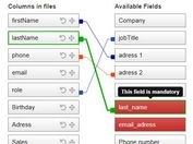 Draw Dynamic Lines Between Two Lists - jQuery FieldsLinker