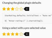 Dynamic Select Based Rating Plugin For jQuery - star-rating.js