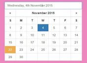 Easy DatePicker Plugin For Bootstrap - bootstrapDatepickr