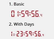 Easy Digital Countdown Clock Plugin With jQuery - countdown-js
