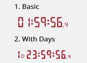 Easy Digital Countdown Clock Plugin With jQuery - countdown-js
