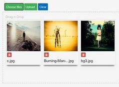 Easy Drag'n'Drop AJAX Uploader Plugin For jQuery - ssi-uploader.js