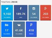 Easy Social Media Counter Plugin For jQuery - SocialCounters