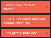 Easy Sticky Notification Plugin For jQuery - Stickr