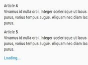 Easy jQuery AJAX Infinite Scroll Plugin - Yofinity