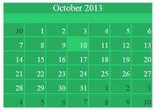 Easy jQuery Based Flat Calendar Widget - Flat Calendar