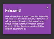 Easy jQuery Modal Plugin with CSS3 Animations - Quick Modal