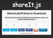Easy jQuery Social Content Locking Plugin - shareIt.js