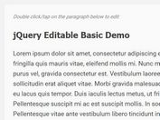 Edit Any Element In Place - jQuery Editable