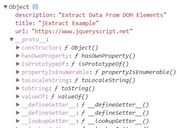 Extracting Data From DOM Elements - jQuery jExtract