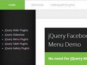 Facebook App-Style jQuery Side Mobile Menu Plugin