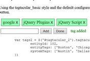 Flexible jQuery Tags Management Plugin - tagtacular