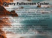 Full Screen jQuery Background Slideshow Plugin - Fullscreen Cycler