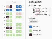 Full-featured Seating Chart Plugin With jQuery - Seat Charts