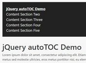 Generating An In-page Navigation For Your Long Document - autoTOC