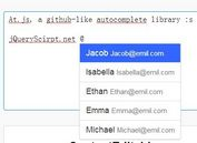 Github Style InLined Autocomplete with jQuery - At.js
