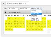 Google Style Historical Date Range Picker Plugin with jQuery