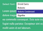 Google Web Font Picker Plugin With jQuery And jQuery UI - Webfont selector