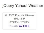 HTML5 Geolocation Based jQuery Yahoo Weather Widget
