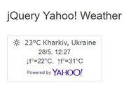 HTML5 Geolocation Based jQuery Yahoo Weather Widget