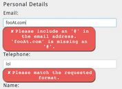 Custom HTML5 Form Validation Messages - jQuery prettyFormError
