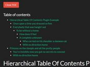 Hierarchical Table Of Contents Plugin For jQuery - jquery-toc.js