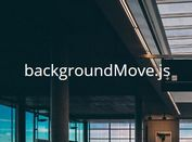Interactive Moving Background Plugin With jQuery - backgroundMove.js