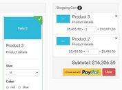 Interactive Shopping Cart Plugin For jQuery - SmartCart