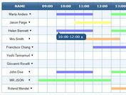 JSON & Canvas Based Time Table Generator - jQuery TimeTable.js