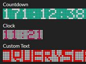 LED Display Style Countdown Clock Plugin - jQuery LED.js