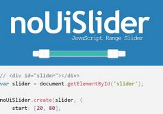 <b>Accessible Touch-friendly Range Slider Plugin - noUiSlider</b>