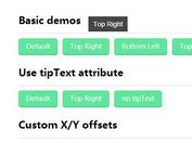 Lightweight Customizable jQuery Tooltip Plugin