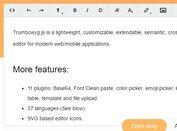 Lightweight HTML5 WYSIWYG Editor Plugin For jQuery - Trumbowyg.js