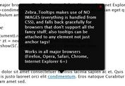 Lightweight and Highly Customizable jQuery Tooltip Plugin - Zebra_Tooltips