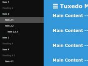 Lightweight Sliding Sidebar Menu Plugin with jQuery - Tuxedo Menu