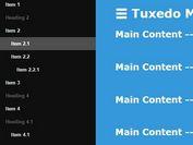 Lightweight Sliding Sidebar Menu Plugin with jQuery - Tuxedo Menu