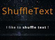 Lightweight Text Rotator Plugin With Shuffle Animations - ShuffleText