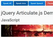 Lightweight jQuery Based Text To Speech Plugin - Articulate.js