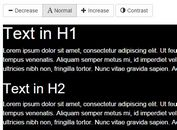 Lightweight jQuery Font Accessibility Plugin - EasyView