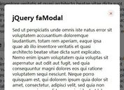 Lightweight jQuery Modal Plugin with Scrollbar Support - faModal