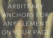 Lightweight jQuery Scroll To HTML Elements Plugin - Arbitrary Anchor