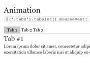 <b>Lightweight jQuery Tabs Plugin With Animation and Rotation - Tabslet</b>