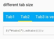 Material Design Inspired Tabbed Navigation Plugin - mdtabs