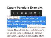 Medium-Style jQuery Html5 WYSIWYG Inline Editor - Penplate