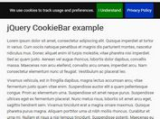 Minimal EU Cookies Law Notice Plugin For jQuery - Cookiebar