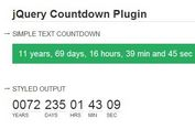 Minimal jQuery Any Date Countdown Timer Plugin - countdown
