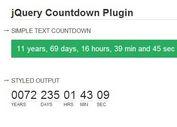 <b>Minimal jQuery Any Date Countdown Timer Plugin - countdown</b>