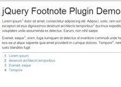 Minimal jQuery Auto Footnote Plugin - Footnote