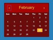 Minimalist Calendar Plugin For jQuery - Calendar.js