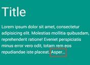 Minimalist Multi-line Text Truncation Plugin For jQuery - trunc.js